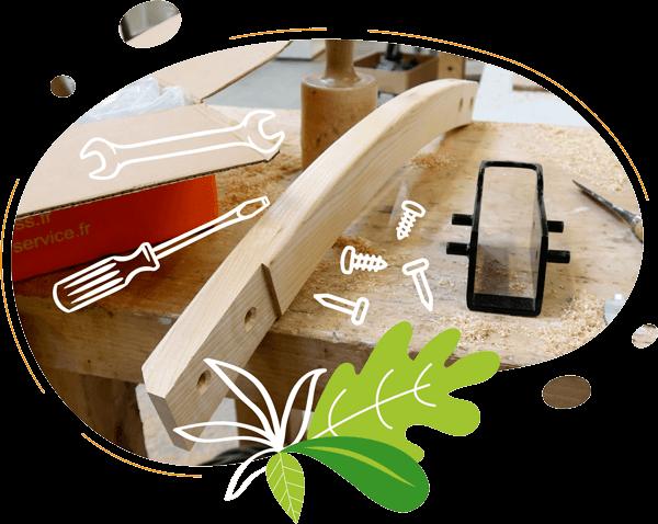 le vélo à smoothie fabriqué en bois en france normandie