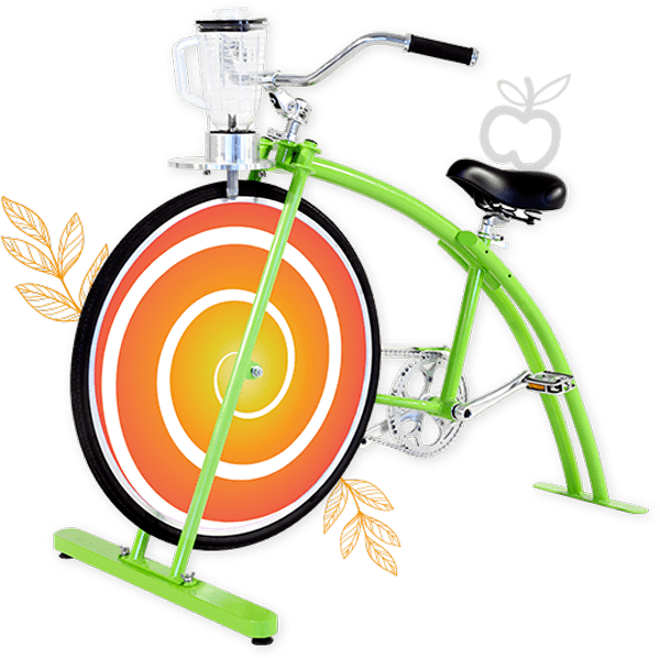 photo et illustration du vélo smoothie vert par Pemrajuice