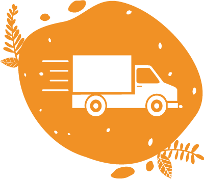 Un pictogramme représentant un camion de livraison des vélos smoothies en location dans toute la france