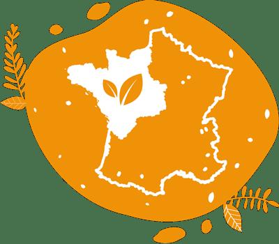 pictogramme présentant notre rayon d'intervention en animation le grand ouest de la france