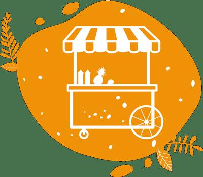 les marchés et festivals sont le lieu idéal pour proposer des fruits et légumes avec le vélo smoothie