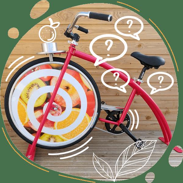 Photo du Cyclojuice un vélo smoothie avec blender pour les enfants dès l'âge de 4 ans