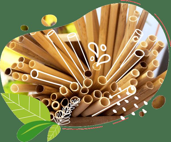 Les pailles en paille se compostent et sont une alternative écolo aux pailles en plastique