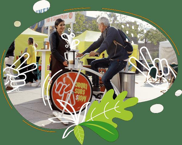 les animations vélos smoothies s'adaptent à de nombreux publics et événements