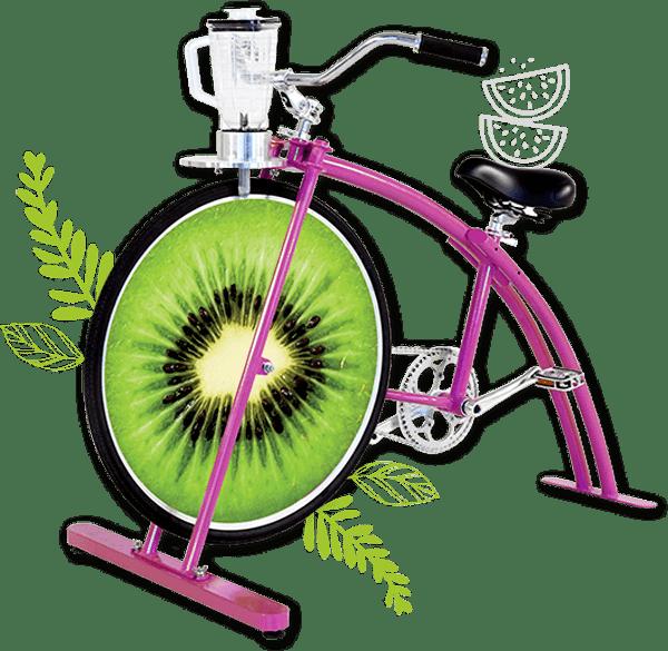 Cette photo montre le Cyclojuice Kids c'est le vélo mixeur des enfants dès 4 ans