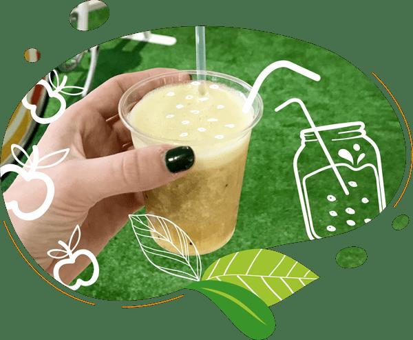 Nos délicieux smoothies sont biologiques avec des ingrédients frais et surgelés