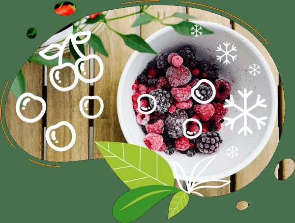Les fruits surgelés permettent d'obtenir un smoothie frais et presque givré