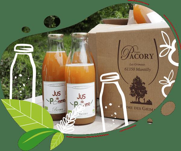 Le jus de pomme est fermier, naturel et local