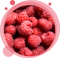 Un smoothie biologique à la framboise