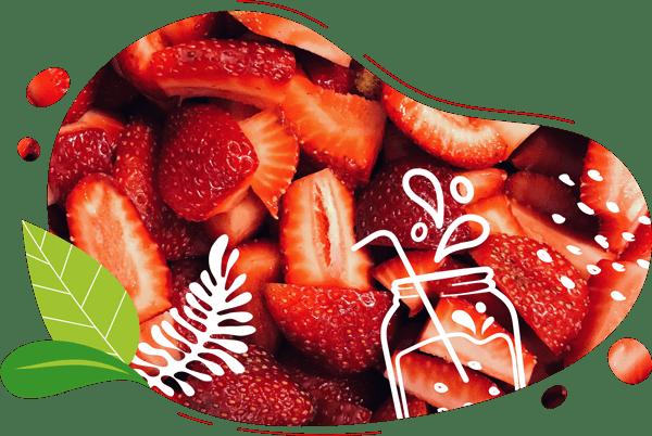 Le smoothie au bon gout de fraises biologiques