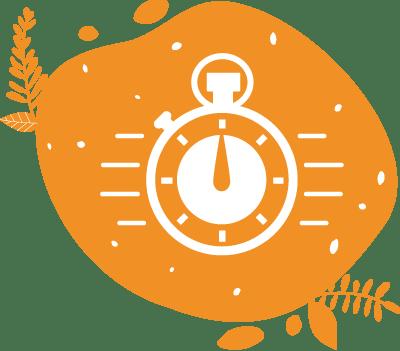 pictogramme d'un timer très rapide