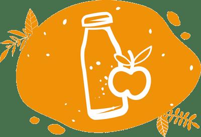 pictogramme de jus de pomme local