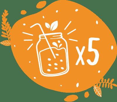 Dans un blender on peut faire 5 très grands smoothies ou 8 smoothies classsiques