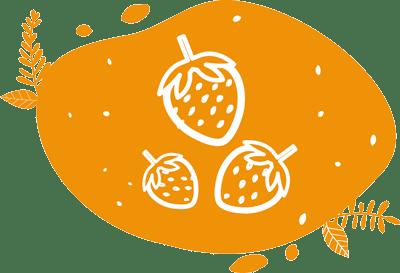 pictogramme présentant trois fraises