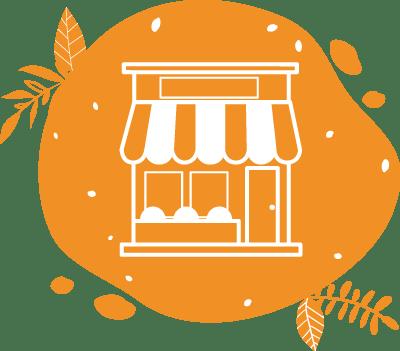 pictogramme représentant une boutique ou un point de vente