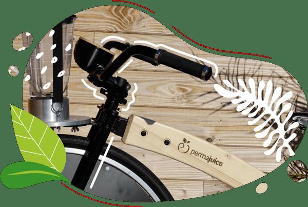 Le vélo au design industriel vintage pour mixer des soupes et des smoothies