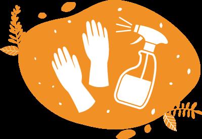 Les équipes d'animation sont munies de gants et de désinfectants