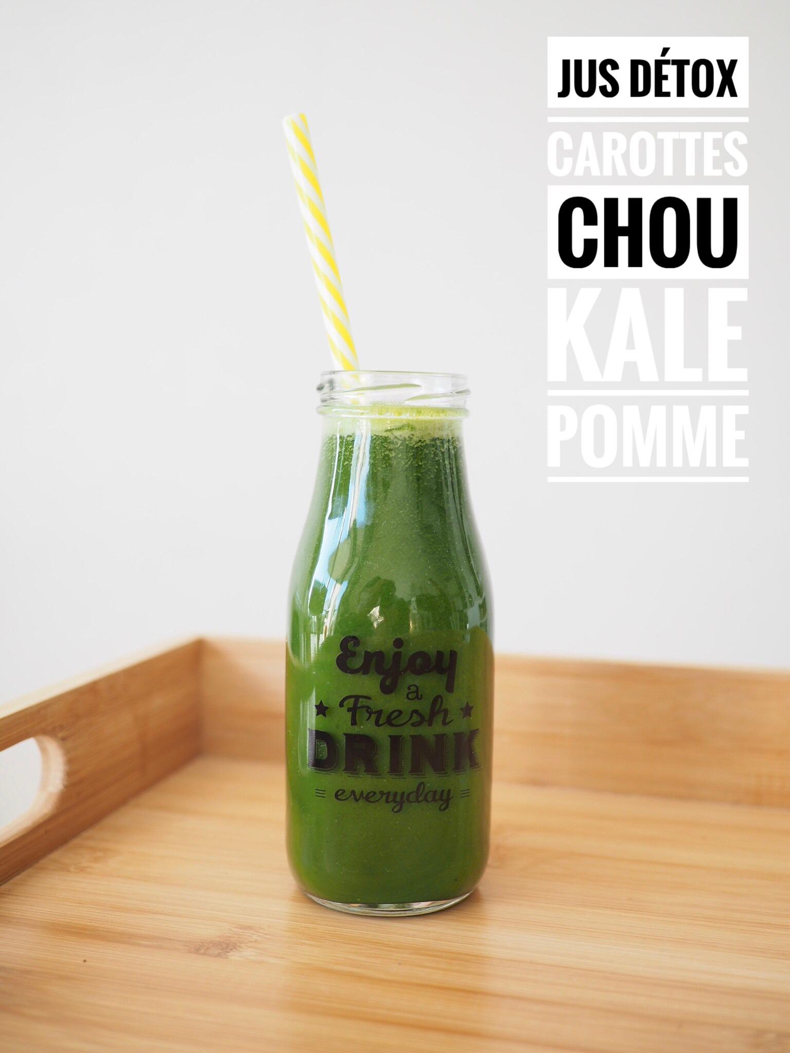 Jus détox | Carottes, Chou kale, Pommes