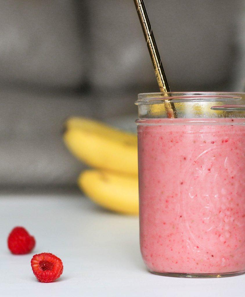 Smoothie banane | framboises & fraises