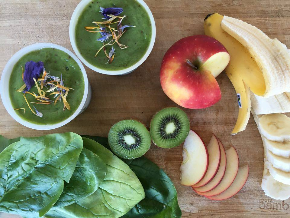 Recette smoothie banane pomme kiwi épinards